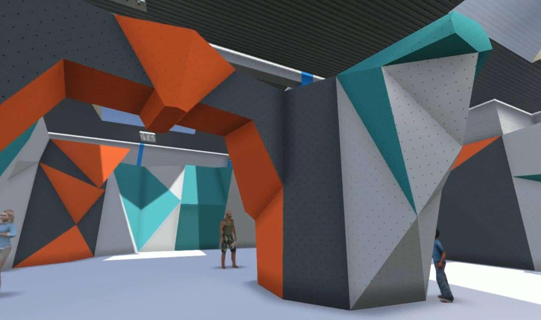 future salle d'escalade de bloc - a Saint-Quentin-en-yvelines