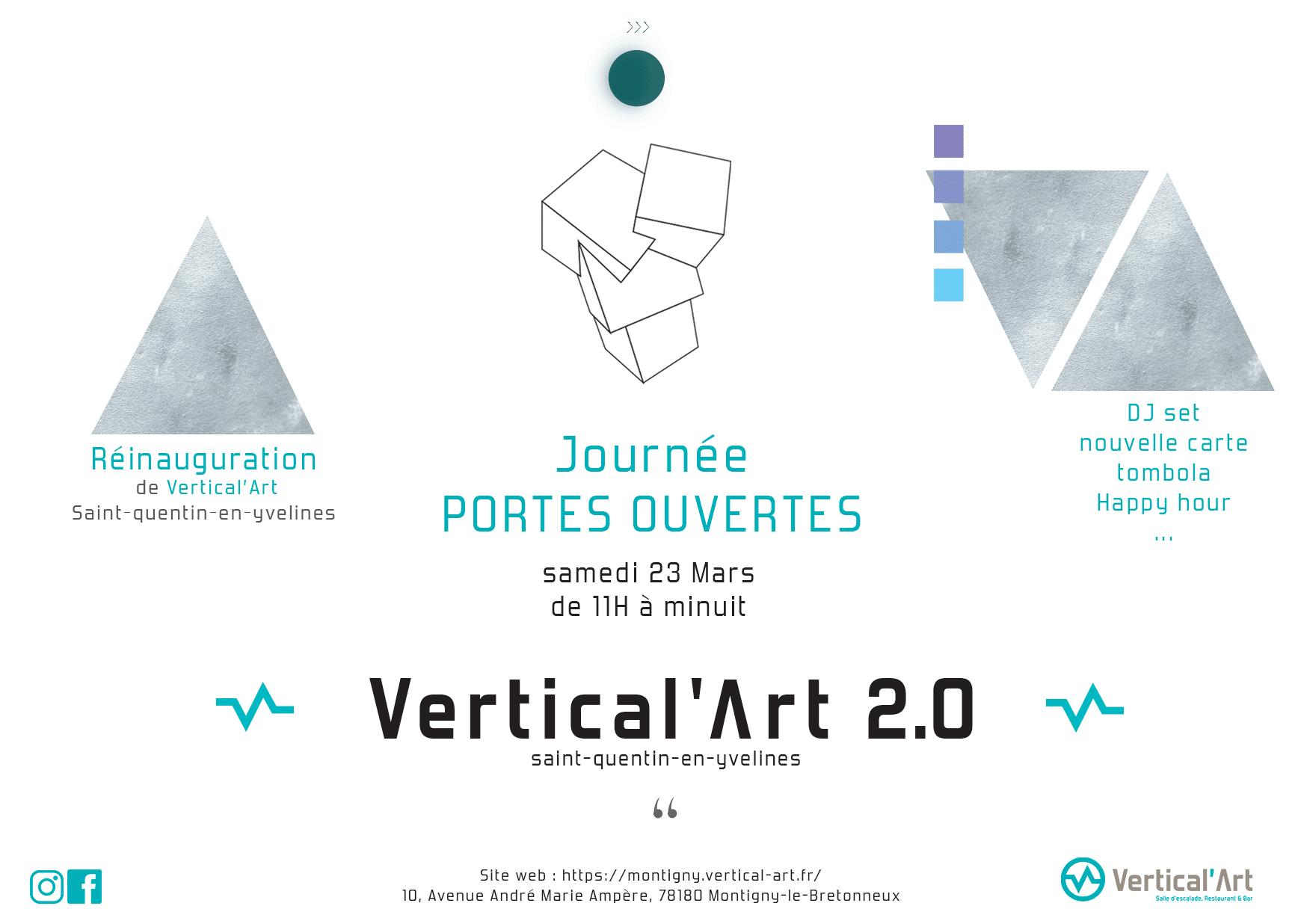 réouverture Vertical'Art - Saint-Quentin-en-yvelines- salle d'escalade restaurant et bar- entrée gratuite - escalade de bloc