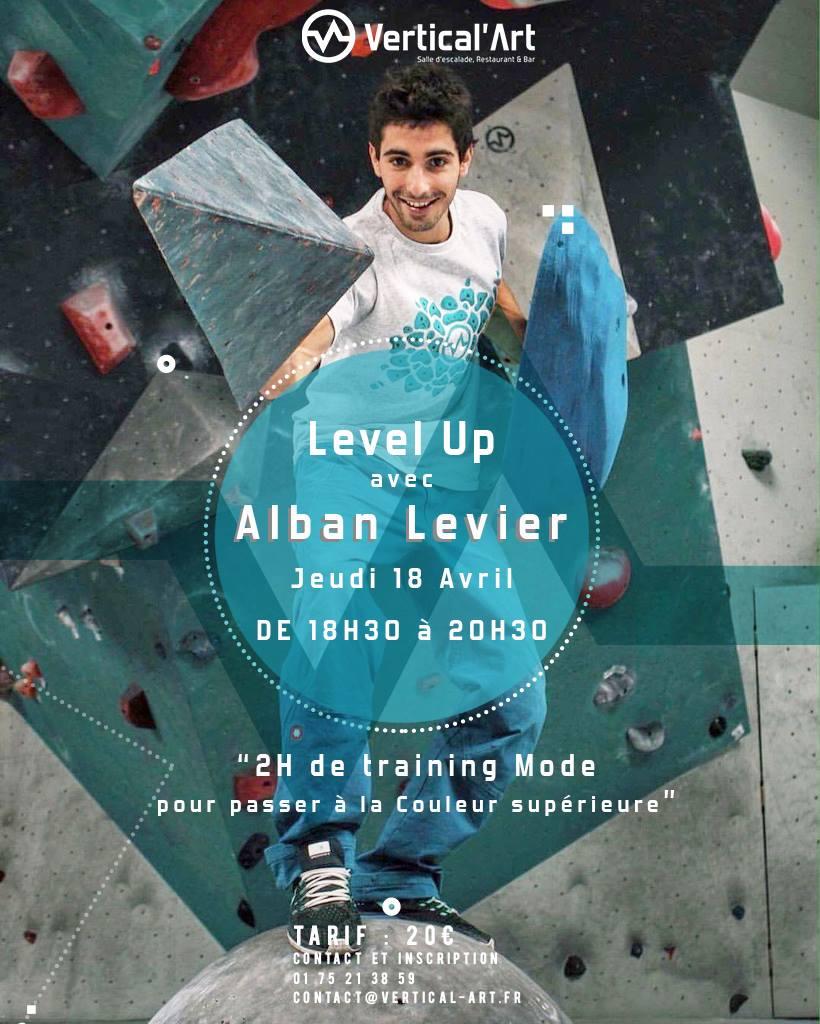 cour d'escalade de bloc avec alban levier / training mode / team vertical'art / montigny / salle de bloc / salle indoor / restaurant / bar