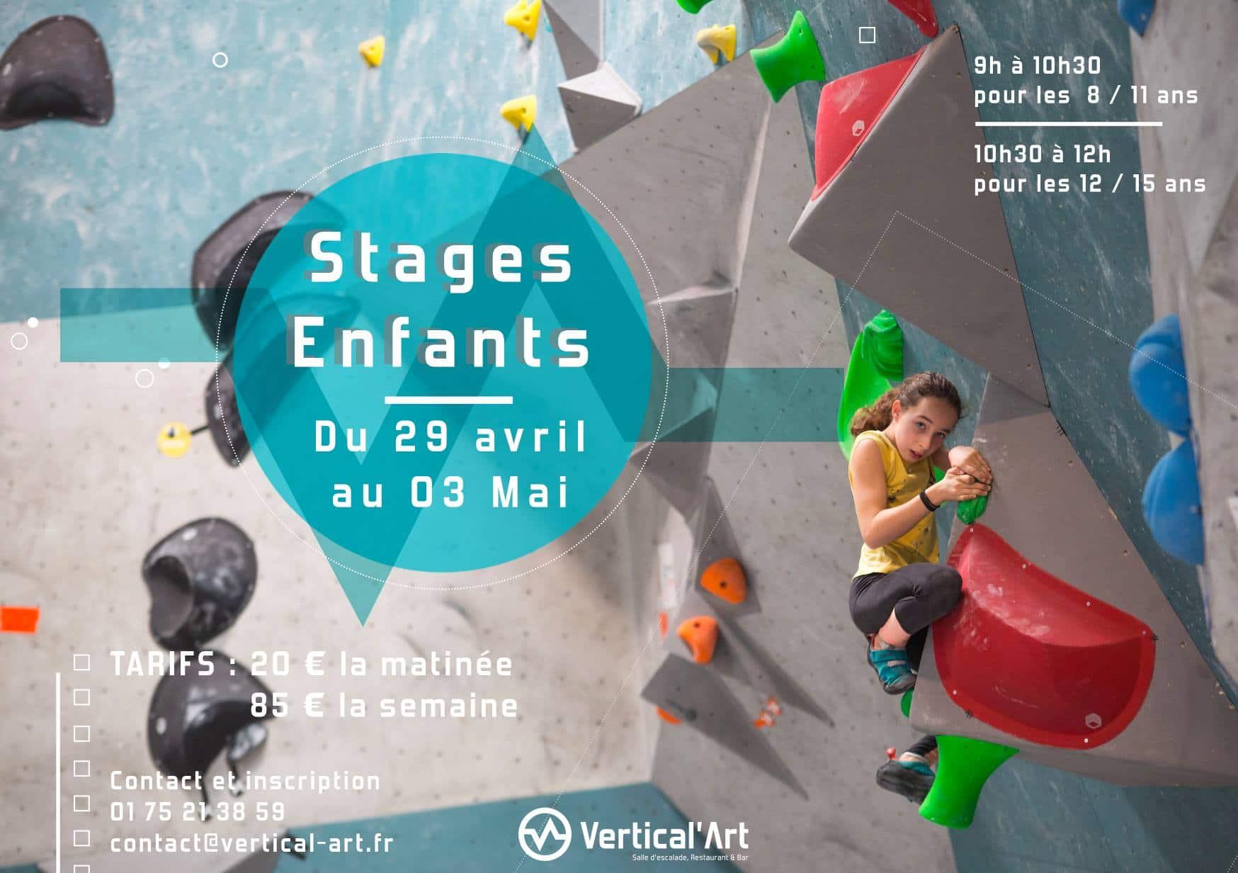 stage enfants à Vertical'Art - Saint-Quentin-En-Yvelines-en-yvelines - escalade de blocs - cours
