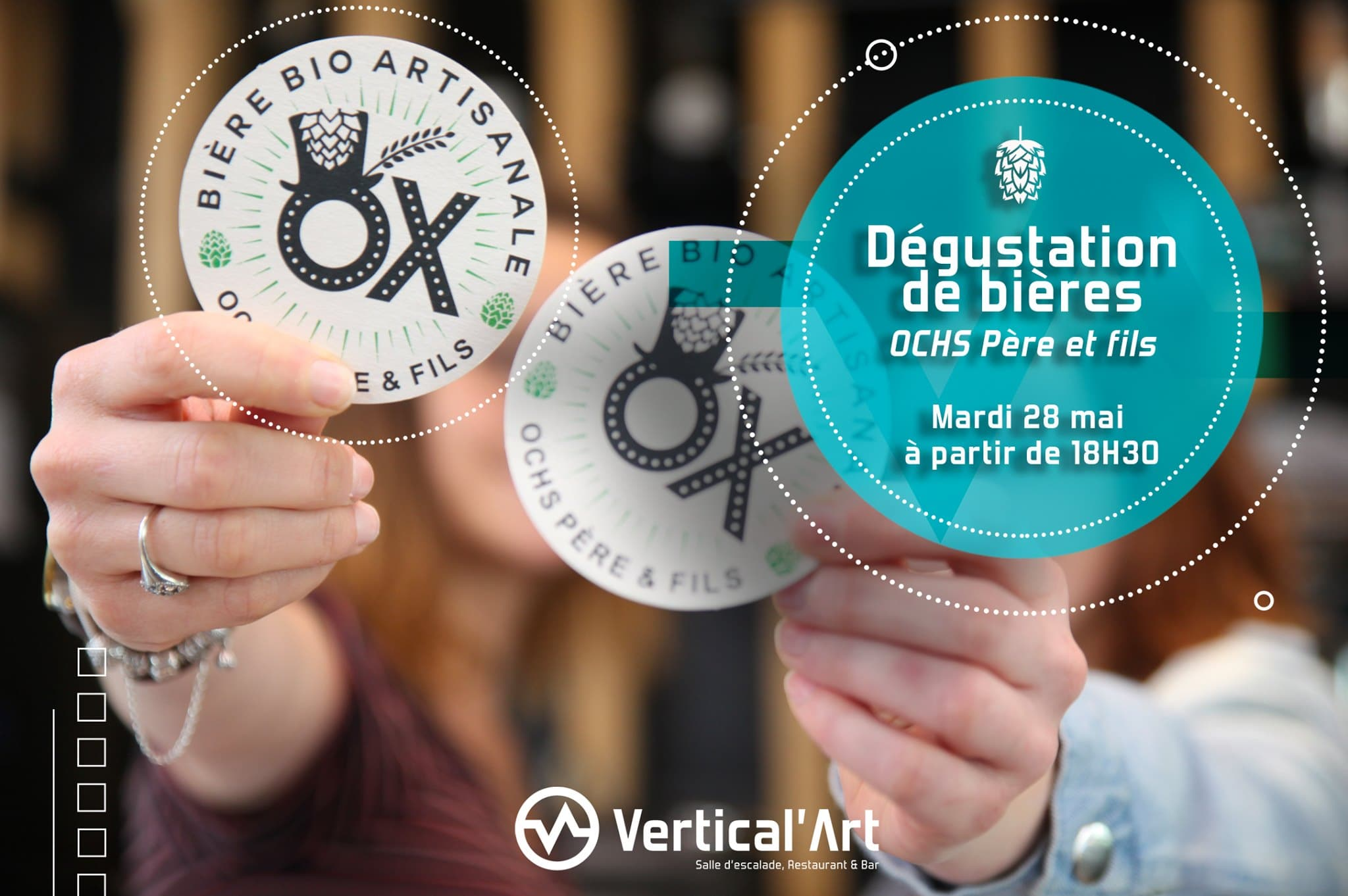 dégustation de bieres à vertical'art // saint quentin en yvelien / paris / salle d'escalade de bloc / restaurant / bar / grimper / dégustation / vertical'art paris / saint-quentin-en-yveline /