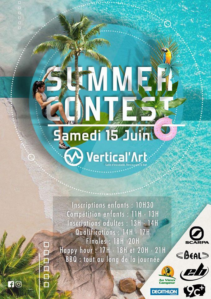 vertical'art saint-quentin-en-yvelines / contest vertical'art / escalade de bloc / lot / DJ set / BBQ / sponsor décathlon, la banque postale, EB, scarpa