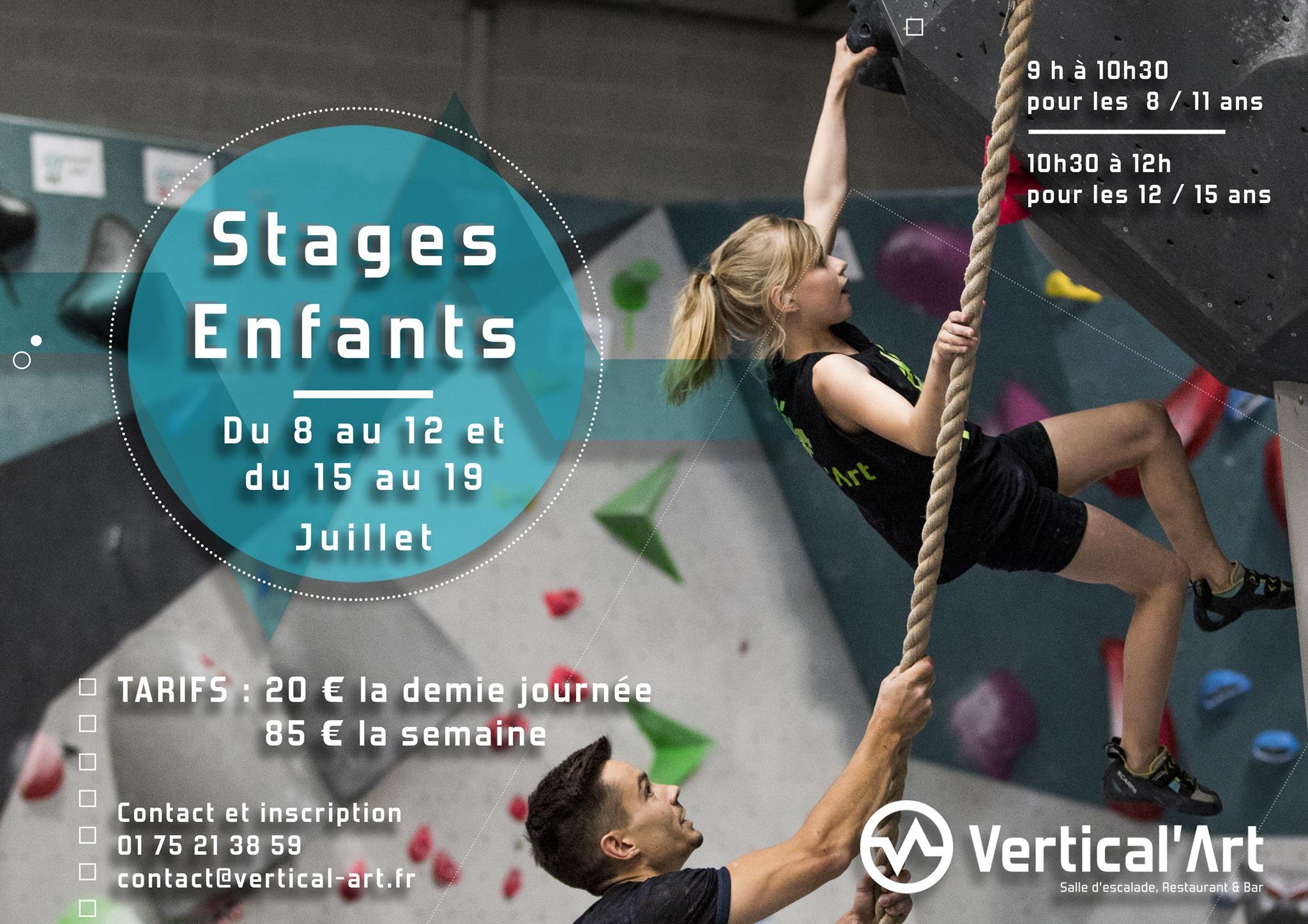 stage enfant à vertical'art saint-Quentin-en-Yvelines- enfants - jeux