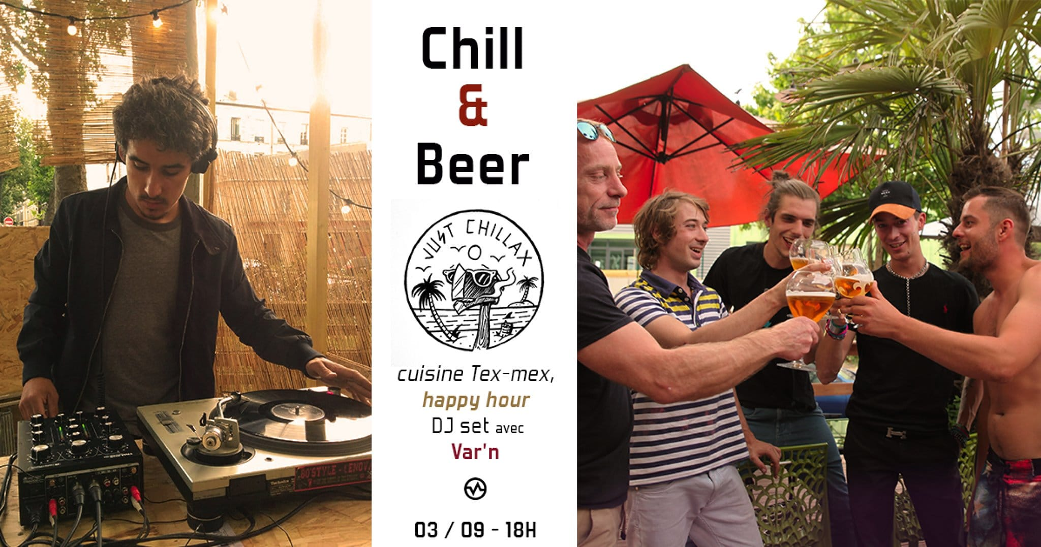 chill and beer - moment agréables -musique -platines- DJ - grillades