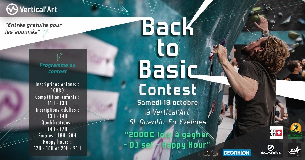 contest le samedi 19 octobre - Vertical'Art - sait-quentin-en-yvelines - escalade - salle d'escalade de bloc - restaurant - bar - compétition - adultes et enfants