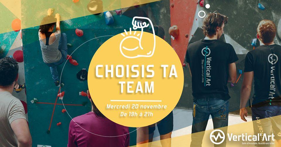 Choisis ta team_Equipe de grimpeur_Saint-quentin-en-Yvelines_ Salle d'escalade de bloc Vertical'Art_Restaurant-bar_