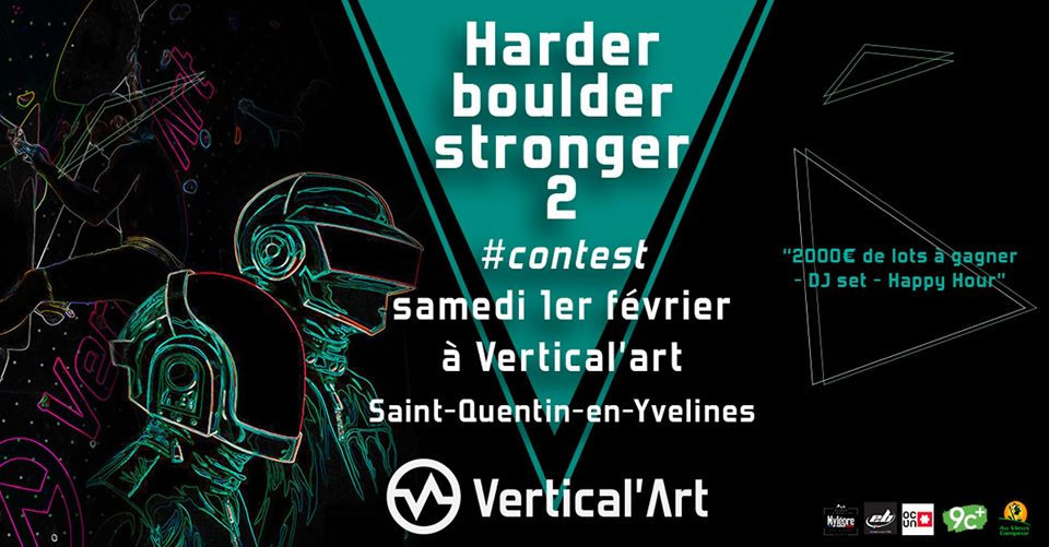 Contest Vertical'art - VA SQY - Vertical'art saint quentin en Yvelines - HBS 2 - 1er fevrier 2020 - Escalade de bloc - contest escalade IDF