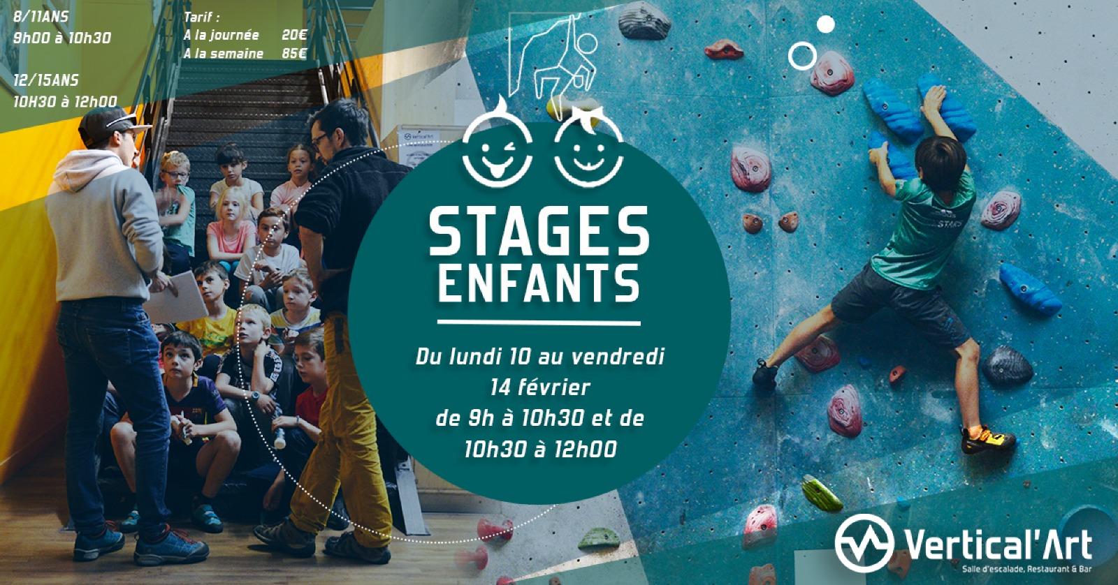 Stage enfant à Vertical'art Saint Quentin en Yvelines- Vacances d'hiver- Enfants - Escalade de bloc