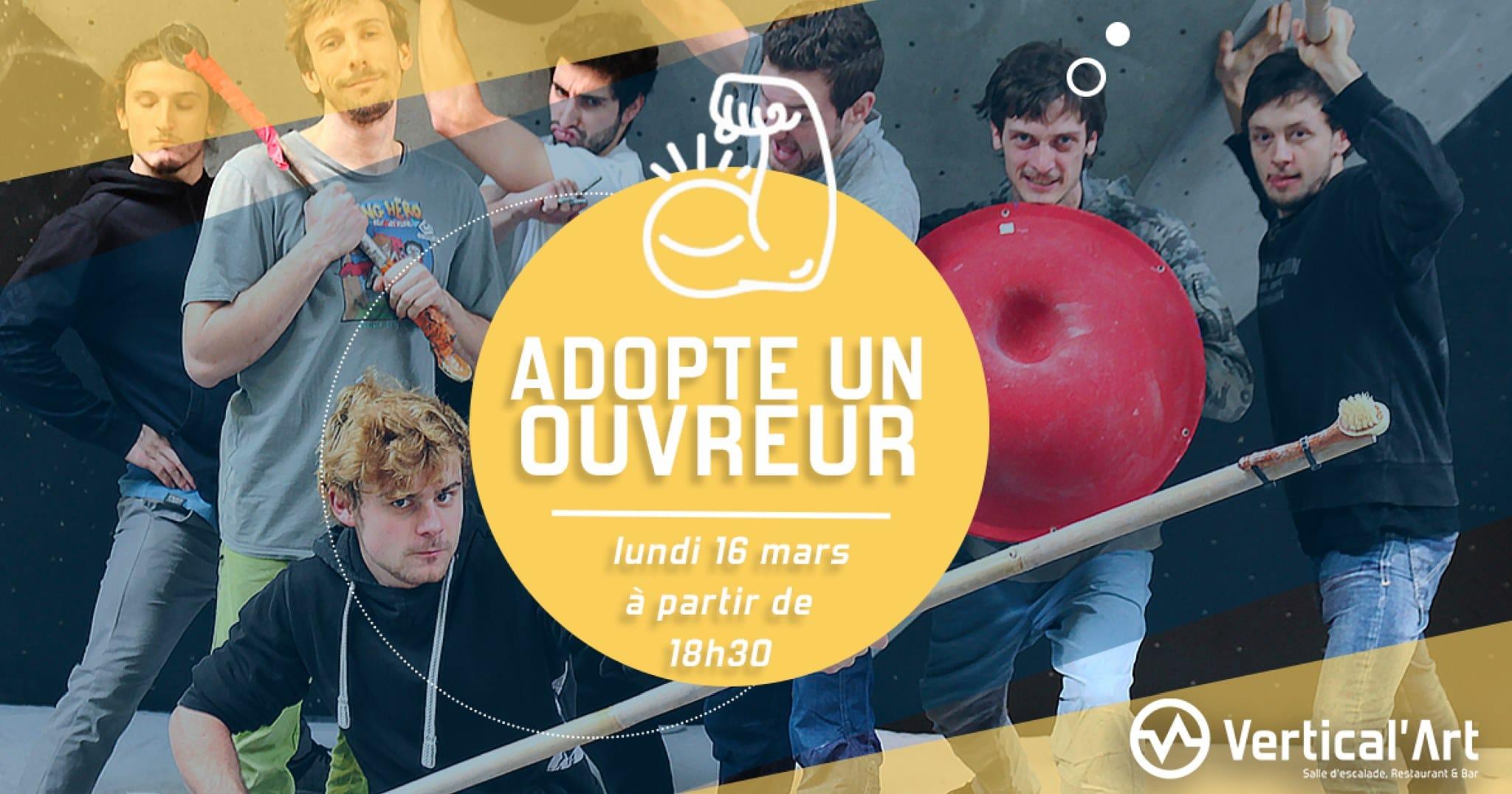 Adopte un ouvreur - Contest équipe escalade de bloc - Vertical'Art - SQY - Ouvreurs et grimpeurs - Maxi-master class-Vertical'Art- Salle d'escalade animée - Vertical'Art SQY-
