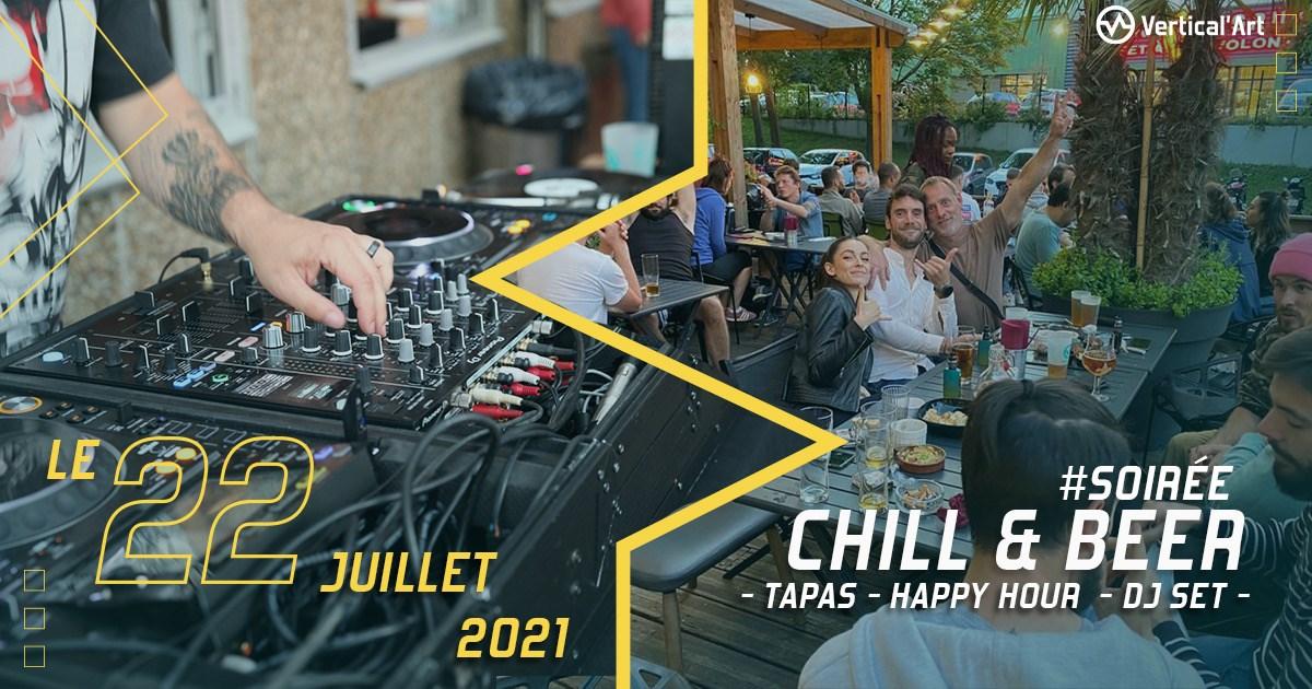 Soirée chill and beer à Vertical'Art Saint-Quentin-en-Yvelines jeudi 22 juillet de 18h à 23h